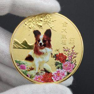 honden souvenir munt