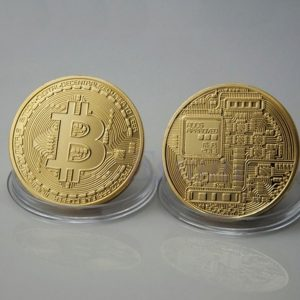 Bitcoin munt goud