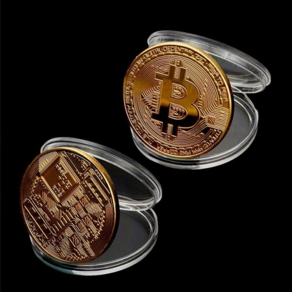 Bitcoin munt goud foto 3