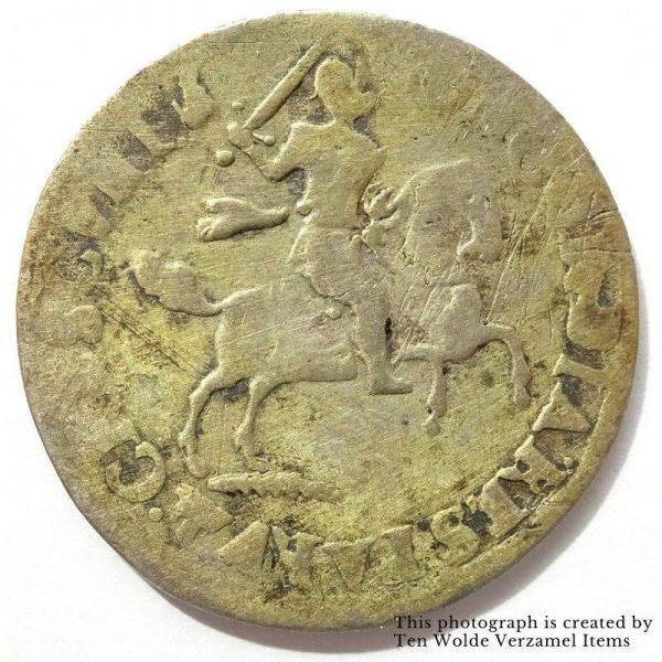 Deventer 6 Stuivers 1688 Rijderschelling achterkant