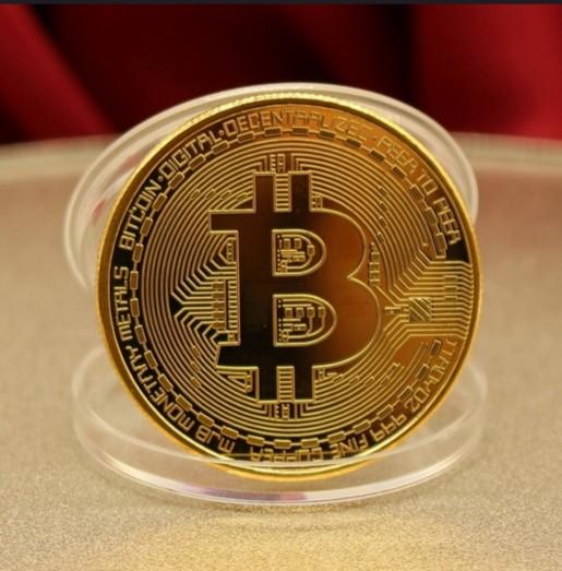 Bitcoin munt goud foto 4